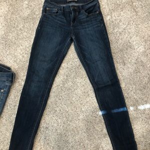 Express Dark Wash Skinny Jeans. Good condition.